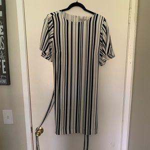 H&M black and white dress